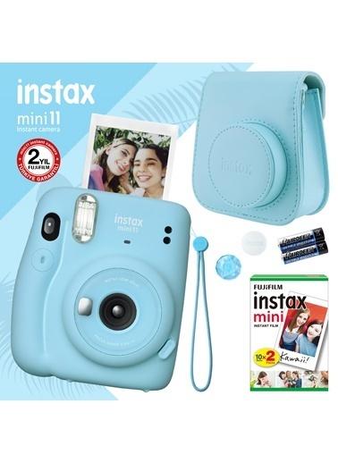 Fujifilm instax mini 11 Mavi Fotoğraf Makinesi ve Hediye Seti 4 Mavi